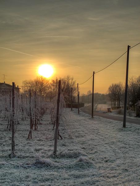 Cold Sunrise - Albareto, Modena, Italy - December 28, 2010