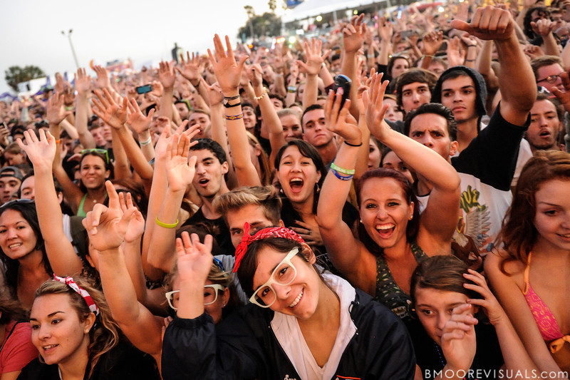 A very excited crowd enjoy fun. as they perform on December 1, 2012 during 97X Next Big Thing at Vinoy Park in St. Petersburg, Florida