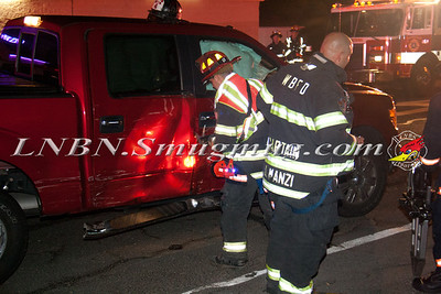 West Babylon F.D. MVA w/ Entrapment Hubbards Path South of Sunrise Highway 6-30-13