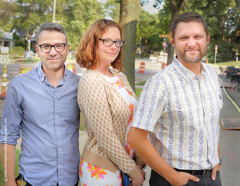 Joel Weber, Amanda Kate Zweerink and Dominic Tassencourt Howes