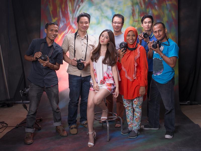 Basic Portrait studio with flash - Medan 2015