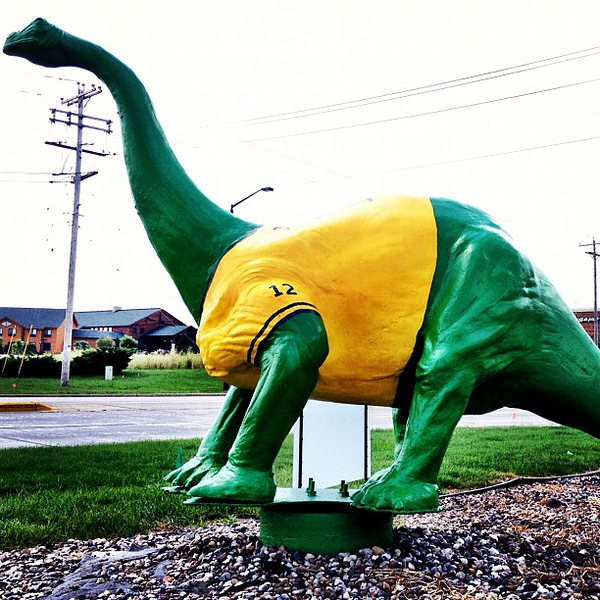 Sinclair dinosaur is still there