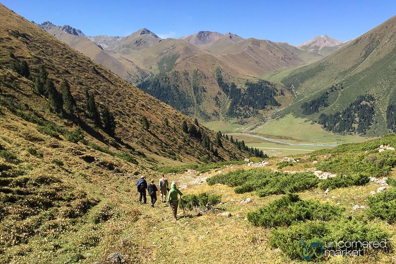 On the Way Down from Terim Tor Bulak Pass - Jyrgalan Trek, Kyrgyzstan