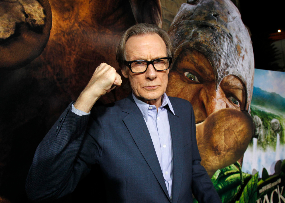""". Cast member Bill Nighy poses at the premiere of \""""Jack the Giant Slayer\"""" in Hollywood, California February 26, 2013. The movie opens in the U.S. on March 1.  REUTERS/Mario Anzuoni"""