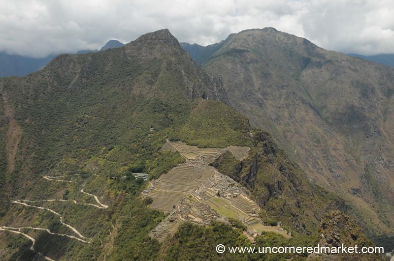 View of Machu Picchu from Wayna Picchu - Peru