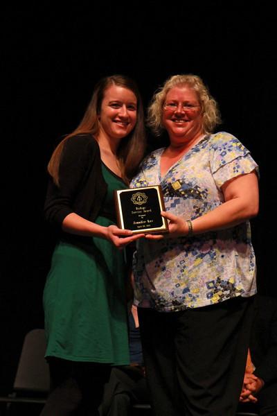 Student Leadership, Service and Volunteerism Recognition Program; Aprl 26, 2011. Biology Service Award: Jennifer Law