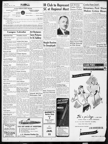 Daily Trojan, Vol. 38, No. 34, October 31, 1946