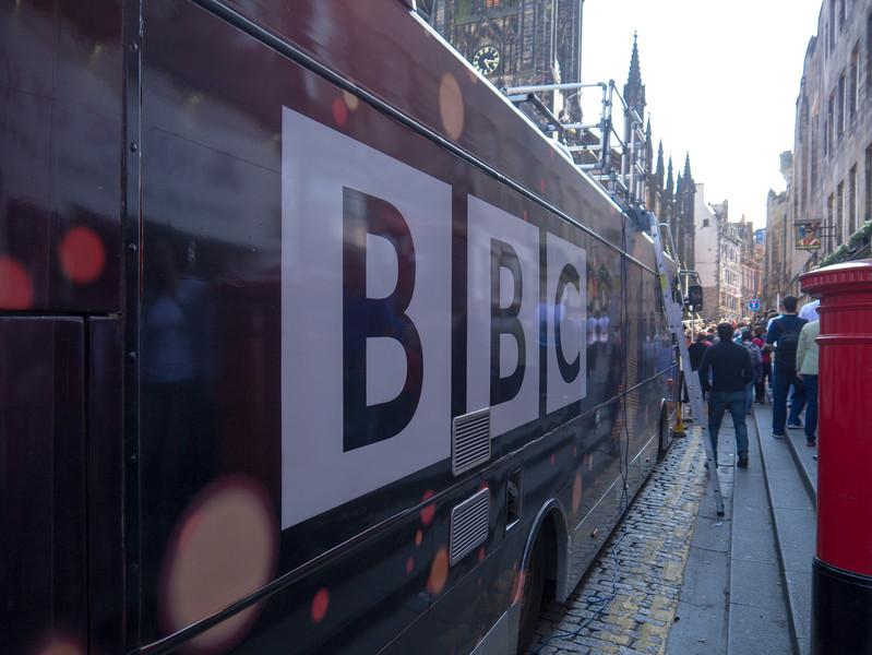 BBC broadcast truck