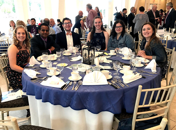 6/5/2019 Mike Orazzi | Staff Some of the members of the Bristol Central High School InterAct Club during the 130th Annual Awards Dinner held at the Aqua Turf Club in Southington Wednesday evening.