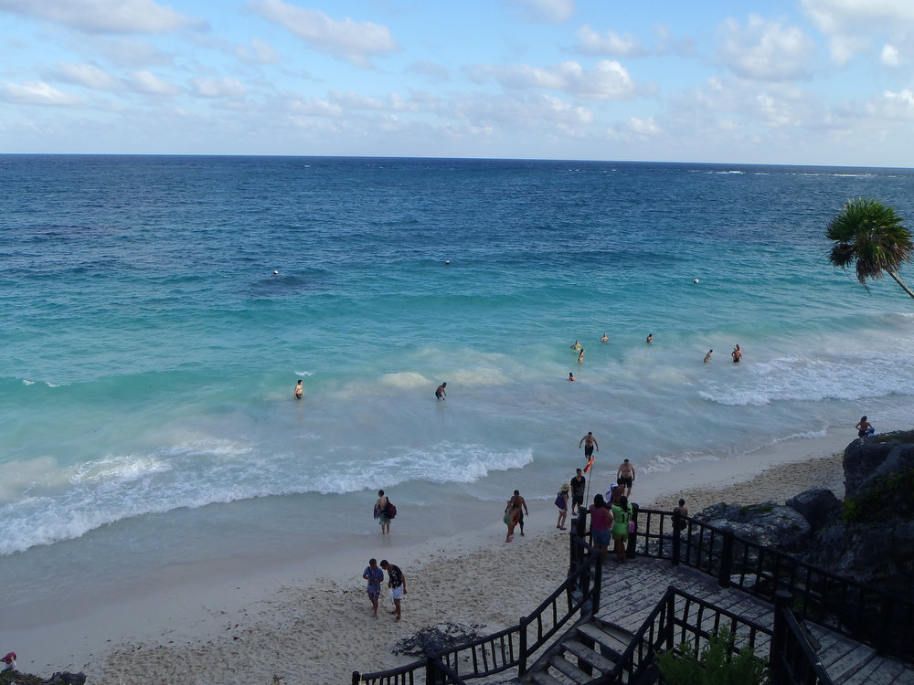 . The beach at Tulum is popular for a reason: It\'s picturesque and easy to access.  (Kyle Wagner/Special to the Denver Post)
