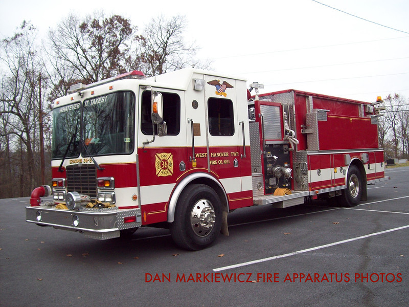 WEST HANOVER TOWNSHIP FIRE CO. ENGINE 36-3 2000 HME/CENTRAL STATES PUMPER TANKER