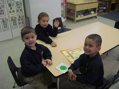 PreK Week 22 and 23 We learn about money by playing store, we study elements and the compounds they form when we make play-doh and we celebrate Valentine's Day
