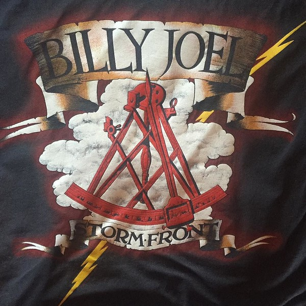 Can't wear it to the show tonight since it's a panel on a t-shirt blanket now, but I'll always remember this as the first concert I went to without my parents. What was yours? #BillyJoel #billyjoelwrigleyfield