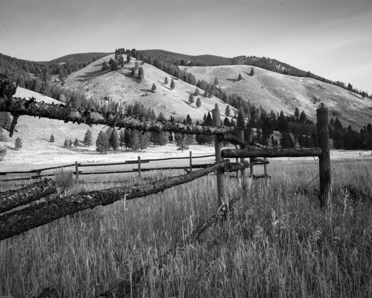 Fence in Montana ranch land