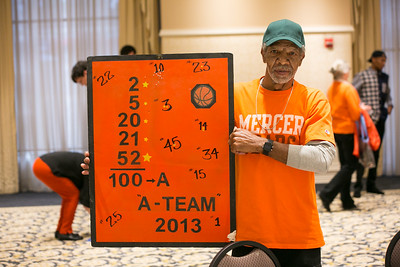 2019 Mercer vs. Citadel, Men's Basketball, Langston Hall Jersey Retired, Five Duke Players Reunion