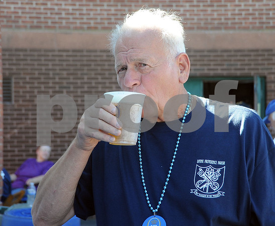 9/23/2017 Mike Orazzi   Staff Franz Koch sips a beer during the St. Peter Church Oktoberfest in New Britain Saturday.