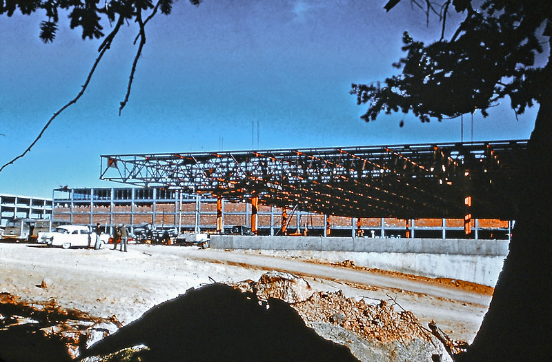 Dining Hall under construction, AFA, 1958