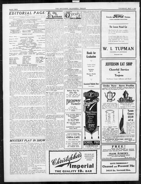 The Southern California Trojan, Vol. 15, No. 79, May 01, 1924