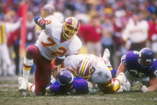 ". <p><b> Retired Redskins defensive end Dexter Manley is back in the news because he � </b> <p> A. Lost his radio job after calling hall of famer Troy Aikman �queer� <p> B. Revealed he was suffering from post-concussion symptoms <p> C. Failed his 100th career drug test <p><b><a href=\'http://www.nydailynews.com/sports/football/manley-calls-aikman-queer-radio-article-1.1499045\' target=""_blank\"">HUH?</a></b> <p>   (Getty Images file photo)"