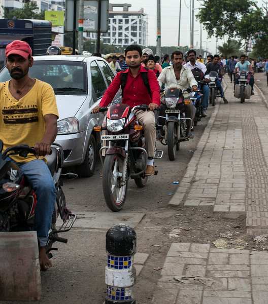 Traffic in Indore.