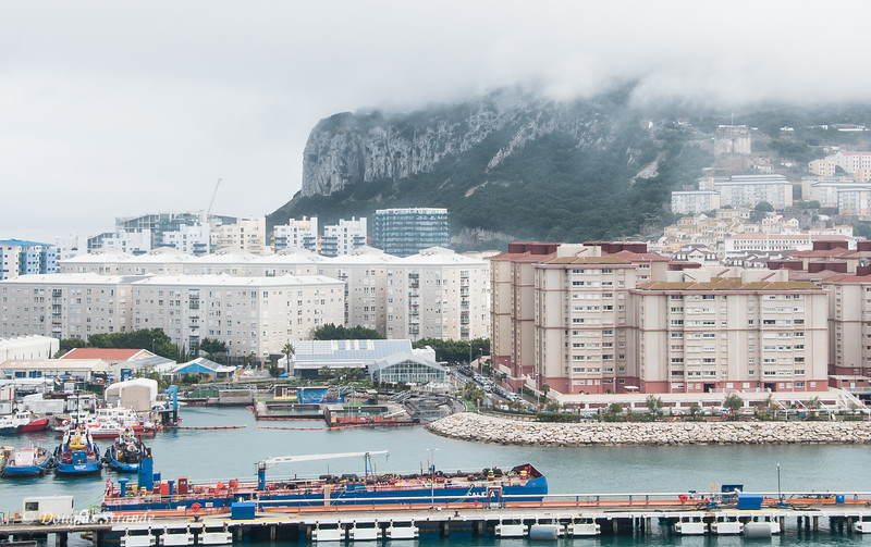 Gibraltar - Docks, with the Rock in the background
