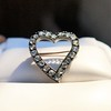 Victorian Rose Cut Witches Heart Pin 0
