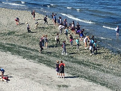 2017 6th Grade Carkeek Park Beach Clean Up