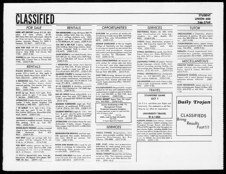SoCal, Vol. 65, No. 6, September 25, 1972
