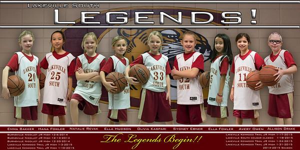 Cougars 3/4 Legends Basketball 2014