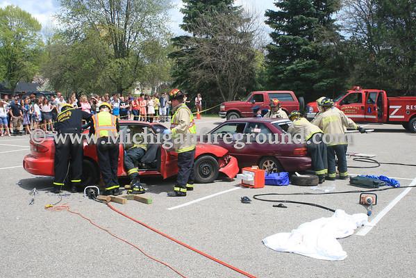 5/7/13 - Dansville mock crash, Dansville High School