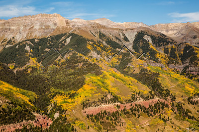 View above Telluride, CO