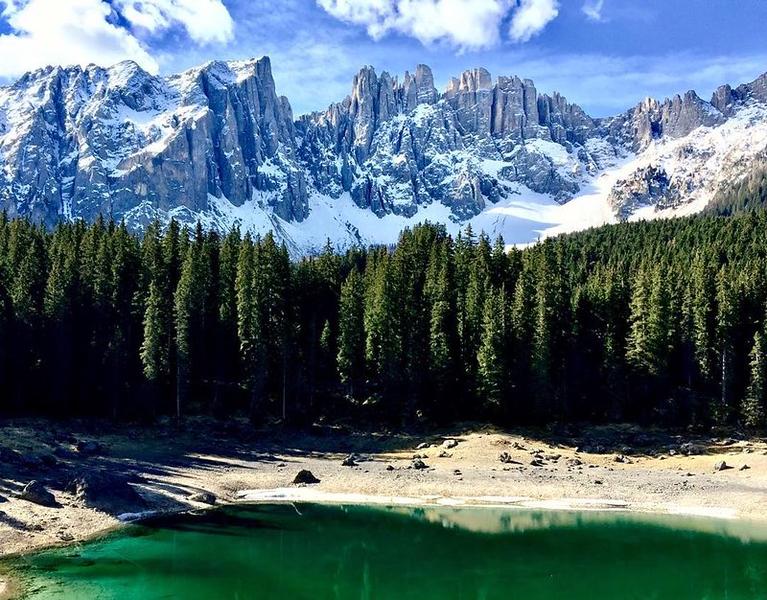 Lake Carezza near Nova Levante, Italy