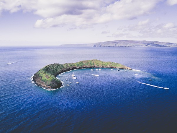 Drone View of Molokini Crater