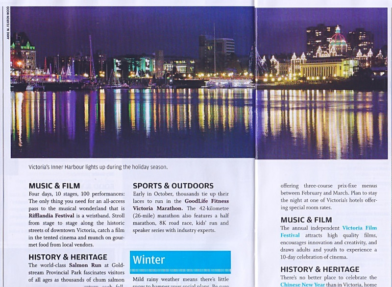 2013 Victoria Travel Guide, British Columbia, Canada. International.