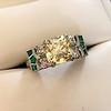 2.10ct Art Deco Peruzzi Cut Diamond Ring, GIA W-X SI2 2