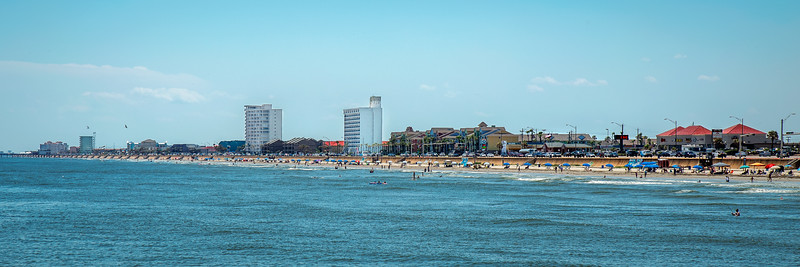 View South from the Fishing Pier - Galveston, TX