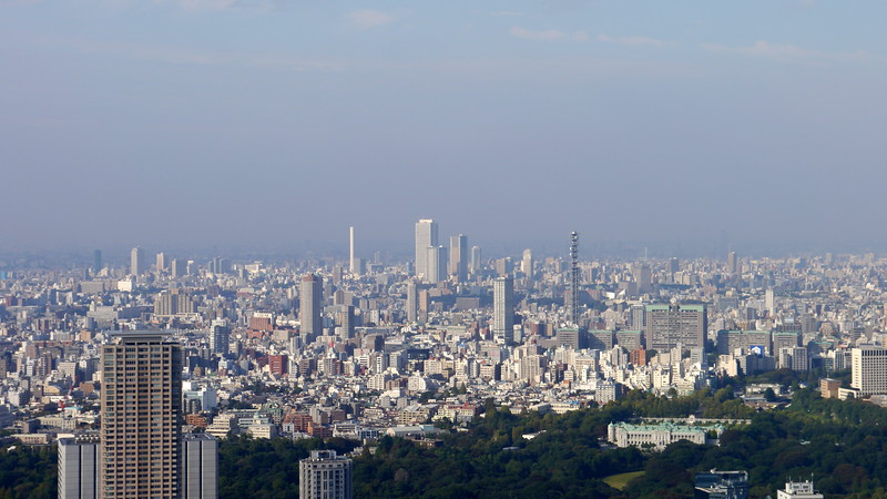 Ikebukuro viewed from the top of the Mori Tower
