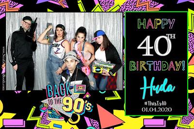 Huda's 40th Birthday! 1/4/2020