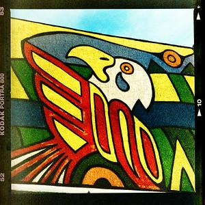 Higgins Ave - 800 ASA colour Portra film