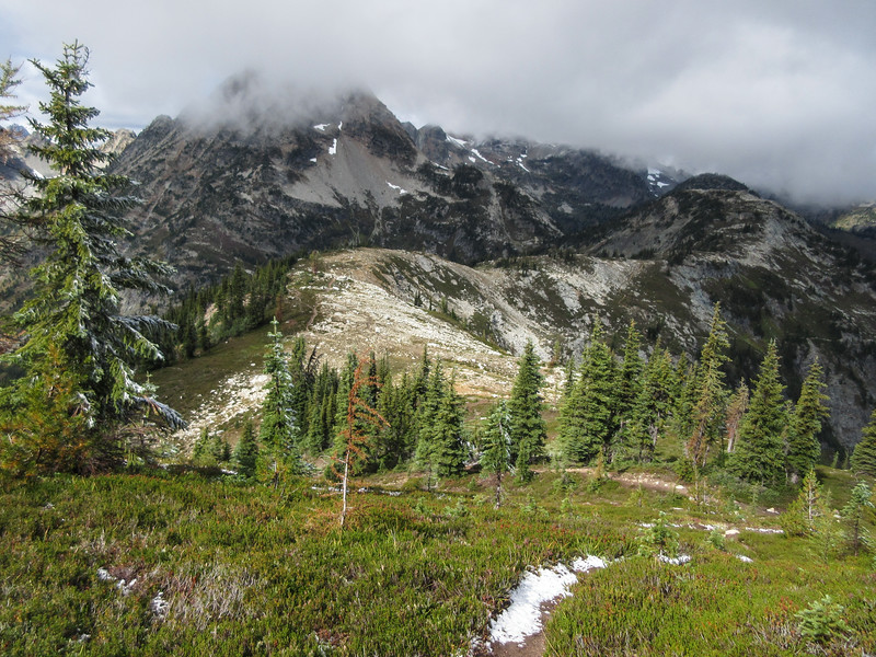 """Heading down toward the """"real"""" low point in the ridge, it is getting hungry out here."""