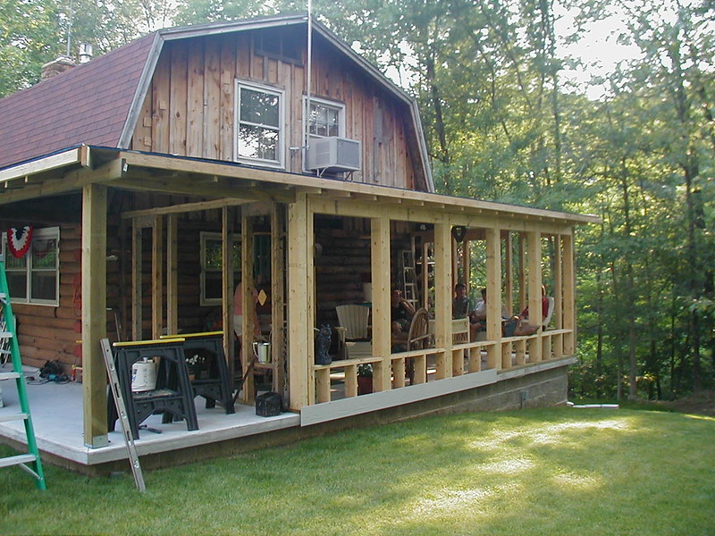 Remodel log cabin