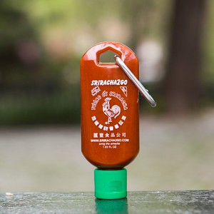 Sriracha Keychain | Food Gift Ideas