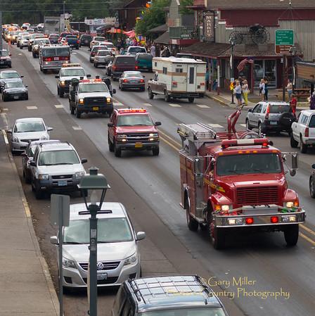 Firefighter Procession for John Hammack