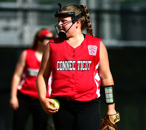 7/25/2018 Mike Orazzi | Staff CT's Kira Fazio (15) at Breen Field in Bristol Tuesday afternoon.