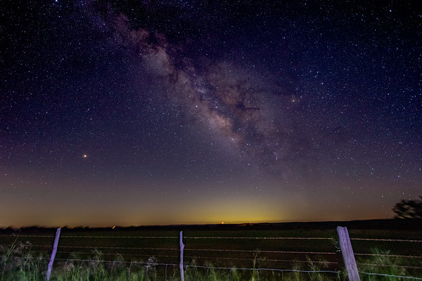 The Milkyway as captured near Willow City, TX