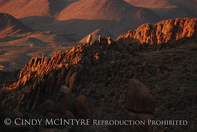 Grapevine Hills - sunset and sunrise