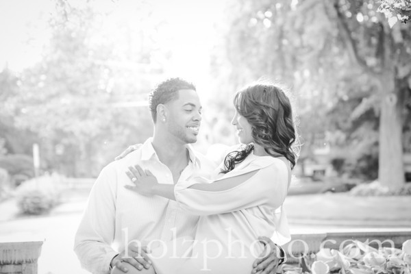 Porscha & Colby B/W Engagement Photos