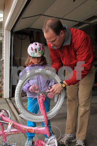 """Father says, """"Bicycle maintenance starts when you get your first bike."""""""