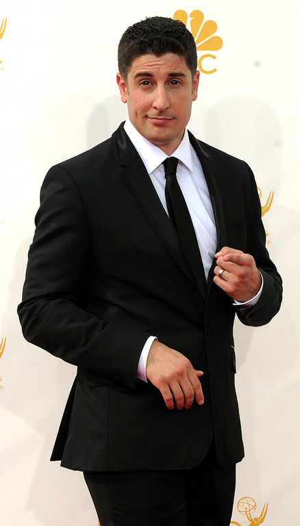 . Jason Biggs on the red carpet at the 66th Primetime Emmy Awards show at the Nokia Theatre in Los Angeles, California on Monday August 25, 2014. (Photo by John McCoy / Los Angeles Daily News)