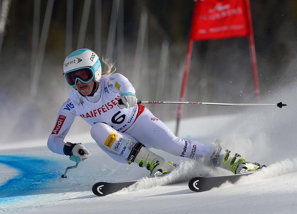. BEAVER CREEK, CO - FEBRUARY 12: Julia Mancuso of the United States competes in the second run of the Ladies Giant Slalom event at the FIS Alpine World Ski Championships in Beaver Creek, CO. February 12, 2015. (Photo By Helen H. Richardson/The Denver Post)